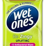 Wet Ones Be Zingy Antibacterial Wipes, 12 Wipes