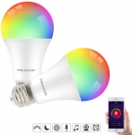 2 PACK WiFi Smart Bulb 9W 900lm LED Compatible with Alexa Echo Google Home