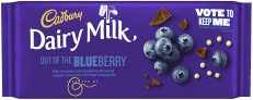 Cadbury Dairy Milk Blueberry Chocolate Bar, 105g x 19 Bulk Case