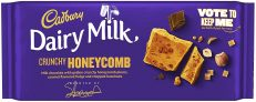Cadbury Dairy Milk Crunchy Honeycomb Chocolate Bar 105g x 19 Bulk Case