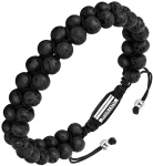 Handmade Adjustable Bead Bracelets for Women Men Lava Stone and Tiger Eye Beads with Double Layer