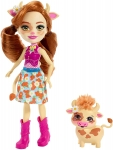 Cailey Cow Doll (6 Inch), and Curdle Animal Friend Figure, Multicolour
