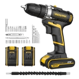 Cordless Electric Drill 30Pcs Accessories Built-in Working LED Flexible Shaft
