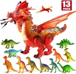 Dinosaur Toys Walking Realistic Dinosaur with Sound for – Pack of 12