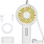 Mini Electric USB Rechargeable Portable Handheld Fan with Night Light