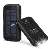 Portable Power Bank Solar Charger with LED Flashlight