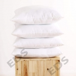 Set of 2 White Cushion Pads With Polyester Filling, Hypoallergenic 2 Cushion Inner 100% hollow fiber Square Pillow insert